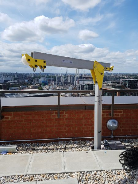 Davit Safety Fall Protection Fall-Arrest Man-Riding System Installed By STQ Vantage London
