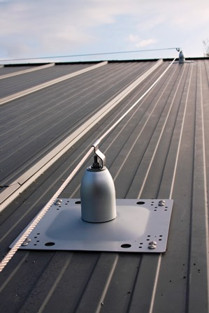Mansafe system Roofsafe fall protection lifeline anchor. Fall Arrest Safety Wire System Somerset
