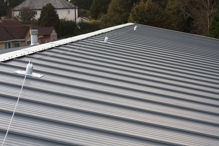 Mansafe system. Roofsafe Fall Arrest Protection Systems. Lifeline system fixed to composite roof panels