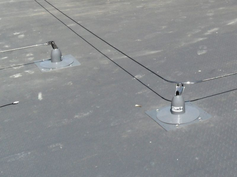 Surrey Mansafe Roofsafe fall arrest protection safety line post system with toggle fixings