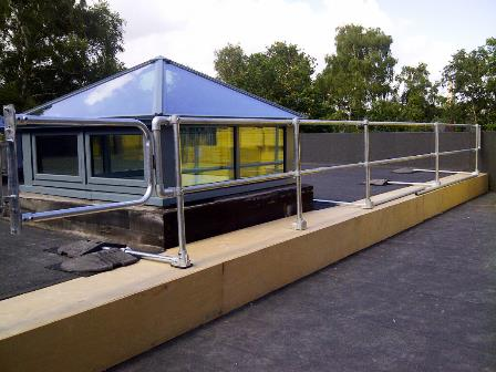 Installed-Roof-Guardrail-Protection-System-in-Poole