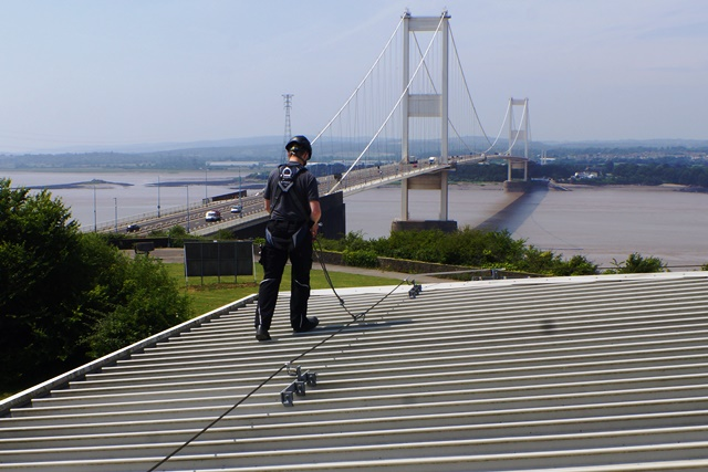 Fall protection system. Capital Safety 3M mansafe Ariana anchor lifeline system inspection Bristol, Avon