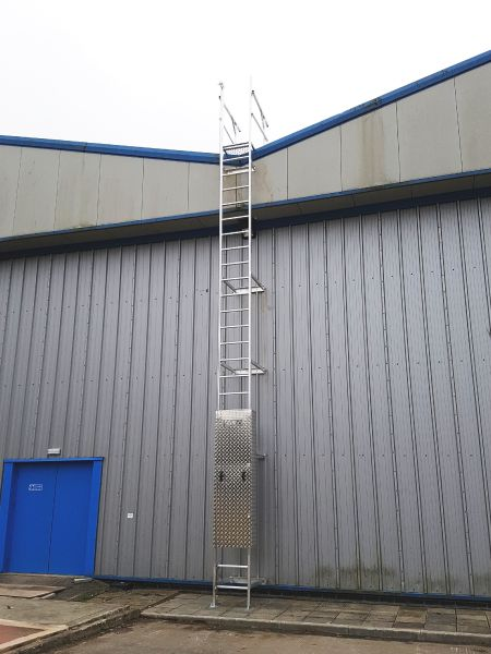 Ladder Lock Out Panel System.  Unauthorised Roof Access