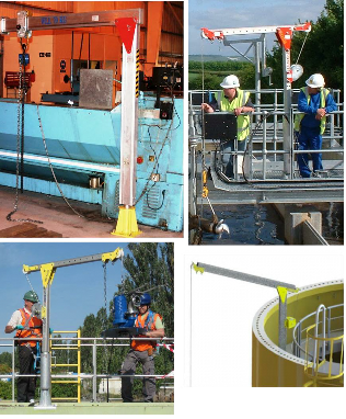 Davit Access Systems - RoofDavit - STQ Vantage.  Roof Lifting Systems.