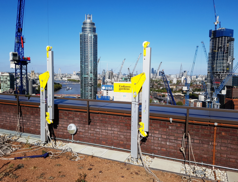 Davit Rope Access Facade Access System in London - STQ Vantage Specialist Contractor. Design and Installation