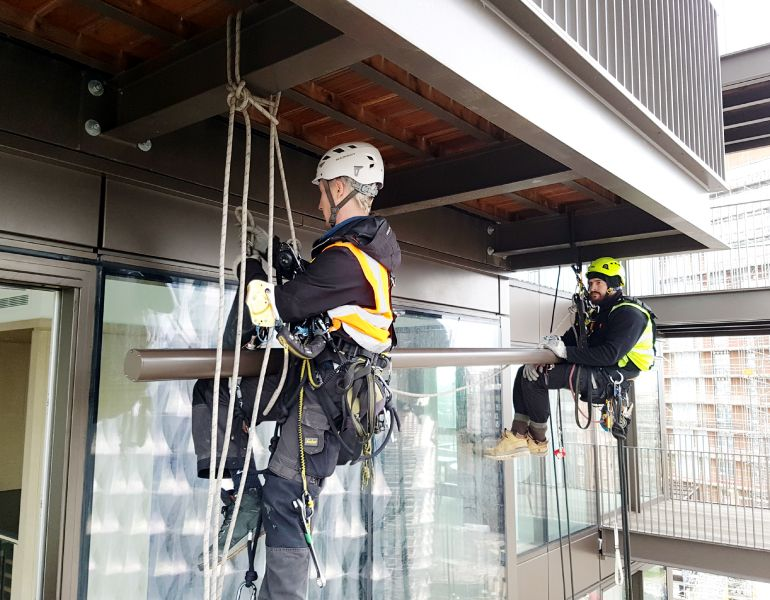 Rope Access Rails and Anchor Point Systems - Technical and Design. STQ Vantage Height Safety Specialists