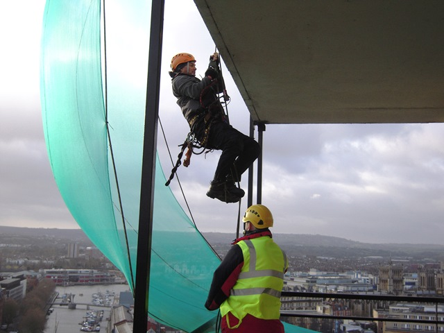 Rope-Access-Abseiling-Light-Repair-in-Bristol,-Avon
