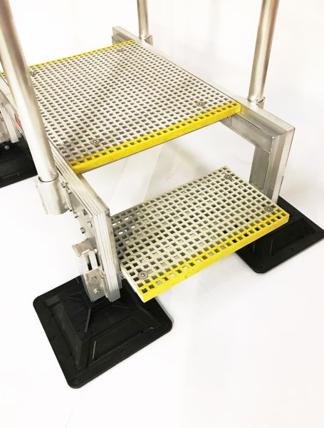 Step Over Safe Roof Access Unit, Designed with GRP Grating for a Non-Slip Walkway