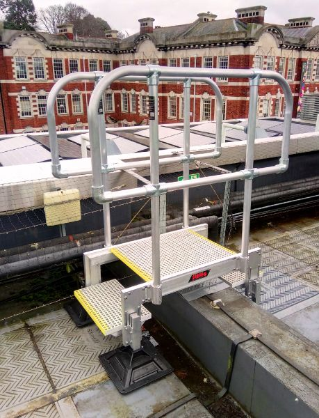 Rigid High Quality Access Steps Made From Aluminium with GRP Grip Treading - STQ Vantage Safe Access Specialists