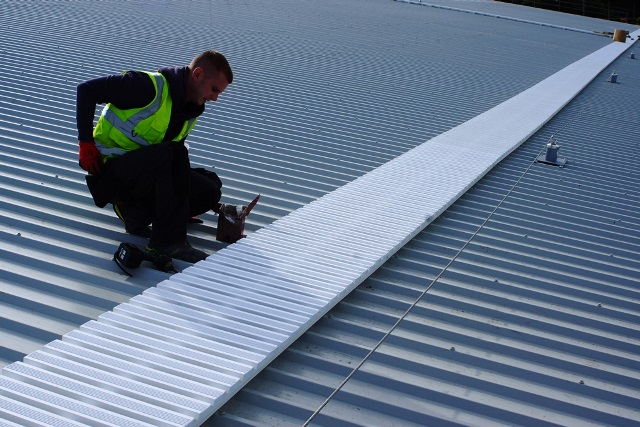 Roof protection walkway systems.  Anti-slip walkway enables users to work at height safely. Contact STQ Vantage.