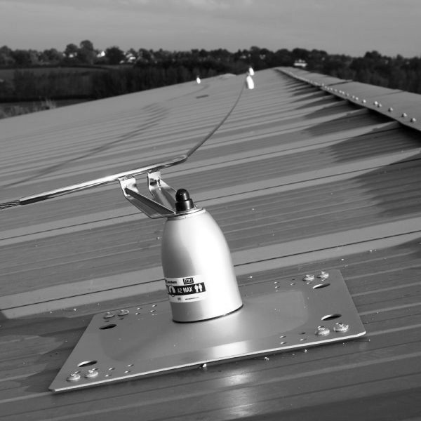 safety equipment installed on a roof top